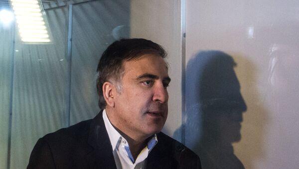 Михаил Саакашвили в Печерском районном суде Киева. 11 декабря 2017