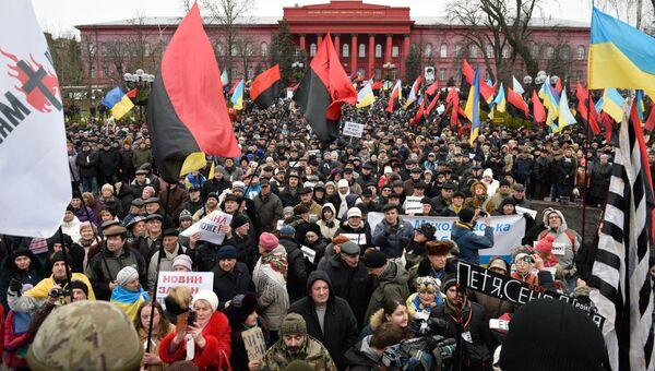 Участники митинга в Киеве. Архивное фото