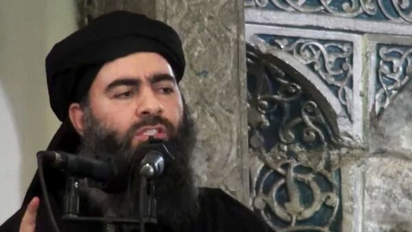 Лидер Исламского государства* Абу Бакра аль-Багдади. Архивное фото