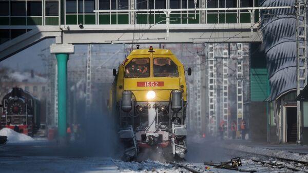 Снегоуборочный поезд