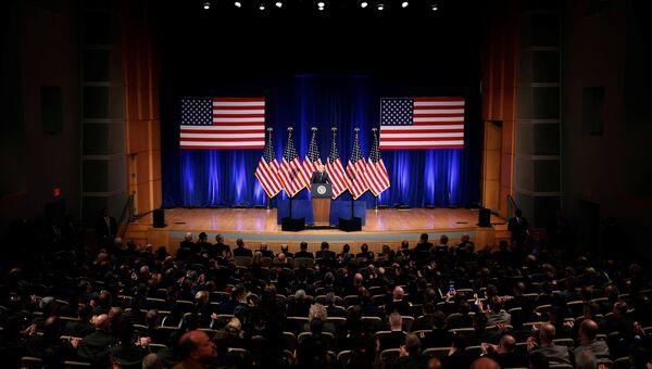 Президент США Дональд Трамп во время оглашения стратегии национальной безопасности США. 18 декабря 2017 год