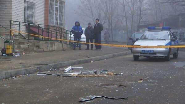 Ситуация у жилого дома по улице 50 лет ВЛКСМ в Ставрополе, в котором произошел взрыв гранаты. 20 декабря 2017