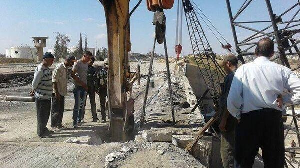 Строительство моста в Сирии
