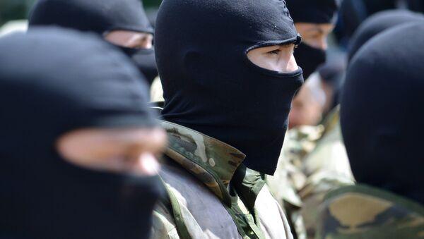 Новобранцы батальона Азов в Киеве