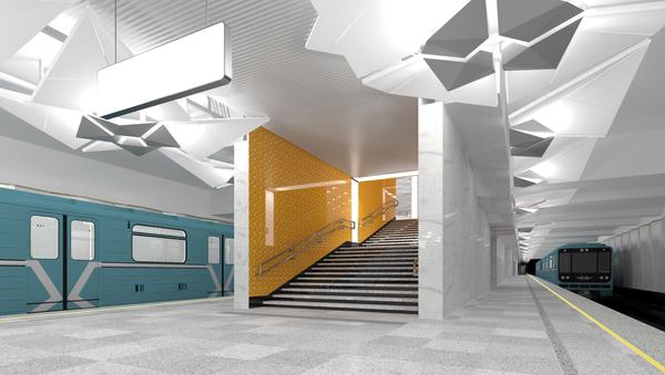 Проект оформления станции метро Ольховая в Москве
