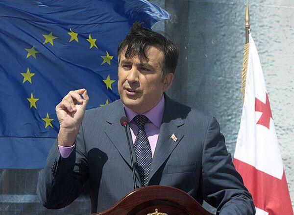 Михаил Саакашвили, флаг ЕС