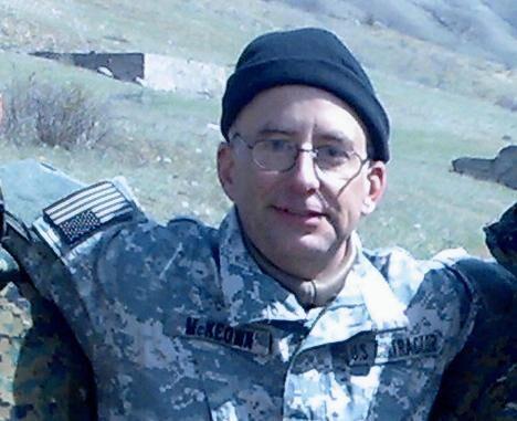 Один из американских инструкторов, проводивший обучение грузинский военных