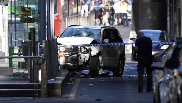 Автомобиль совершивший наезд на пешеходов в Мельбурне. 21 декабря 2017