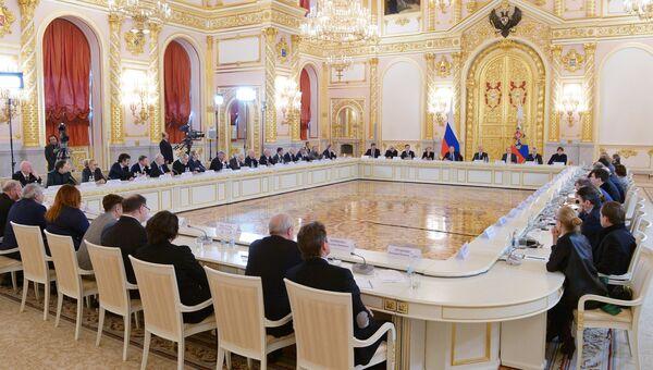 Президент РФ Владимир Путин проводит заседание Совета по культуре и искусству. 21 декабря 2017