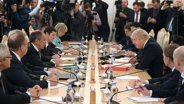 Встреча глав МИД РФ и Великобритании Сергея Лаврова и Бориса Джонсона. 22 декабря 2017