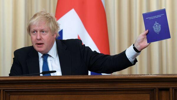 Министр иностранных дел Великобритании Борис Джонсон во время встречи с министром иностранных дел России Сергеем Лавровым. 22 декабря 2017