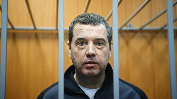 Бывший глава федерального агентства по обустройству государственной границы РФ Дмитрий Безделов в Мещанском суде города Москвы. 29 декабря 2017