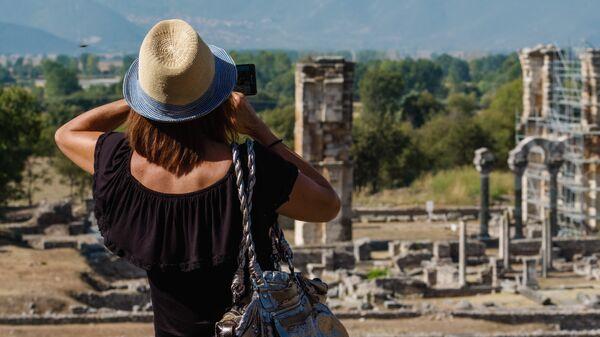Развалины агоры (рыночной площади) в античном городе Филиппы