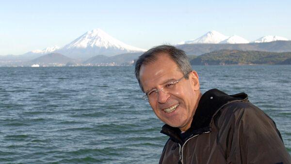 Глава МИД РФ Сергей Лавров во время поездки на Камчатку. Архивное фото