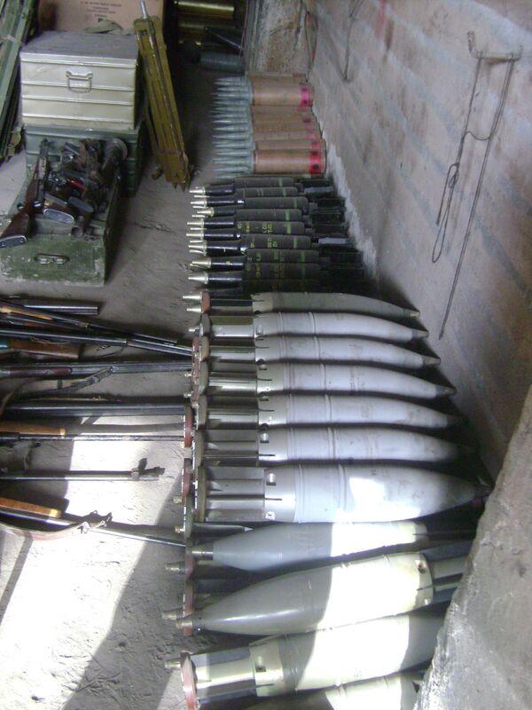 Трофейные грузинские боеприпасы