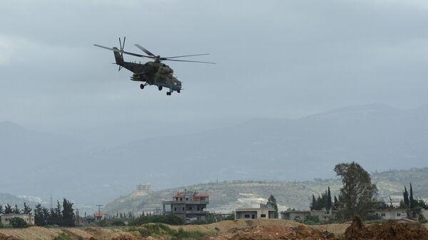 Вертолет Ми-35 в Сирии