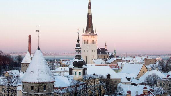 Вид на исторический центр Таллина