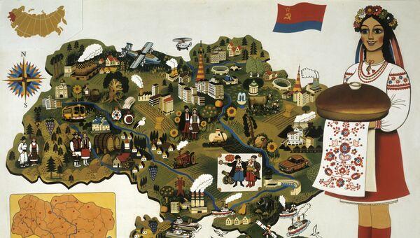 Карта Украинской ССР
