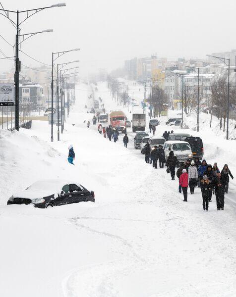 Последствия циклона в Петропавловске-Камчатском
