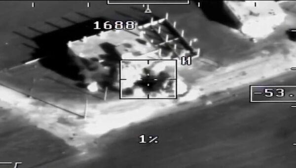 Уничтожение террористов, обстрелявших базу Хмеймим. Съемка Минобороны РФ