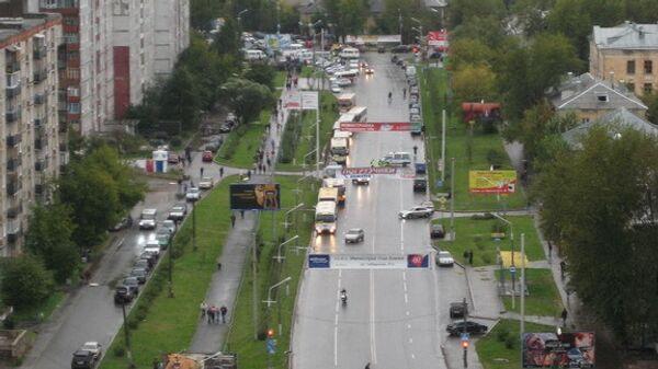 Один из центральных районов города Перми