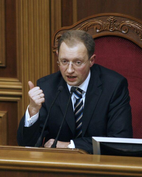Спикер Верховной Рады Арсений Яценюк