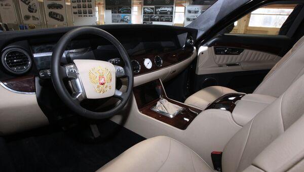 Салон макета автомобиля, разработанного в рамках проекта Кортеж