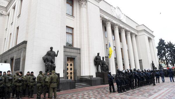 Полицейские у здания Верховной рады Украины