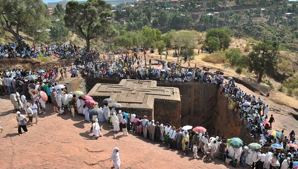 Церковь Святого Георгия, Лалибэла, Эфиопия