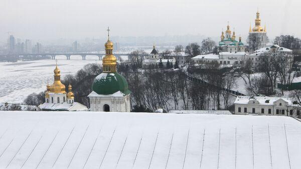 Вид на Днепр и Киево-Печерскую лавру в Киеве
