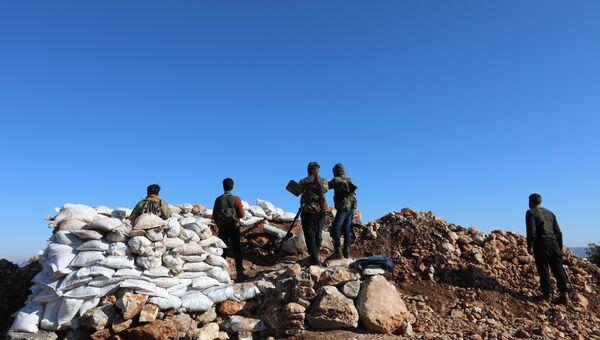 Cирийские повстанцы у курдского анклава Африн. 20 января 2018