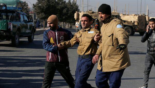 Раненный охранник отеля Intercontinental Hotel в Кабуле. 21 января 2018