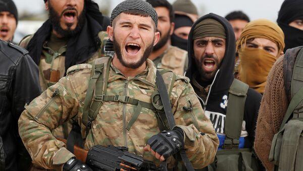 Турецкие военные из Свободной сирийской армии. 21 января 2018