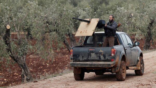 Турецкий военный из Свободной сирийской армии в Сирии. 21 января 2018