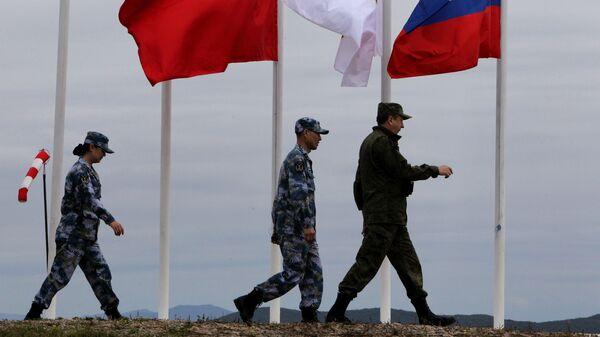 Российско-китайские военно-морские учения. Архивное фото