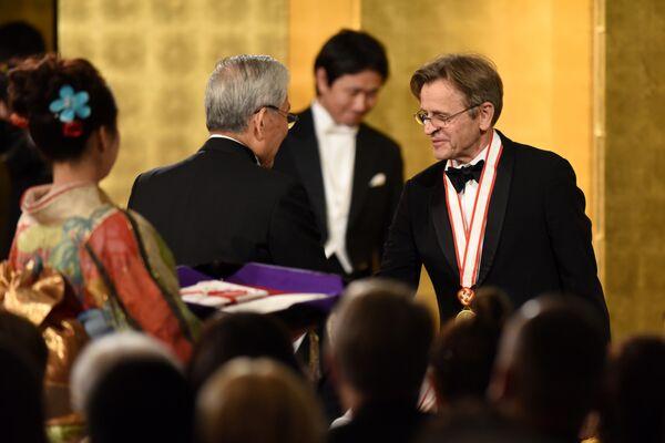 Михаил Барышников на церемонии вручения Императорской премии в Токио, 2017 год.