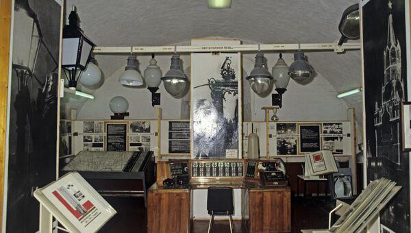 Первый пульт управления освещением Москвы (1940 г.) в Музее Огни Москвы