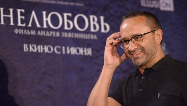 Режиссер Андрей Звягинцев на пресс-конференции фильма Нелюбовь