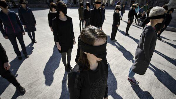 Участницы феминистической акции. Архивное фото