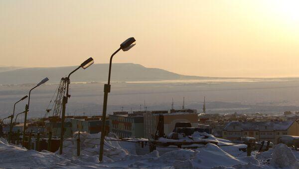 Вид города Анадырь. Архивное фото