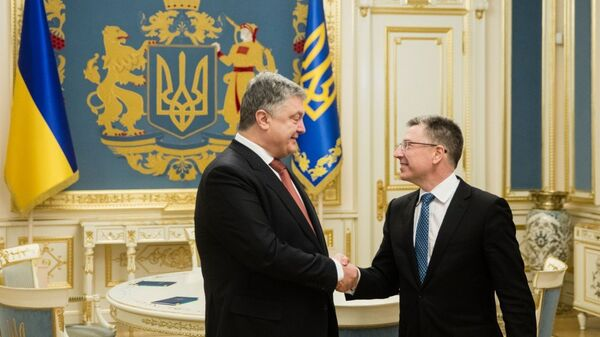Петр Порошенко с спецпредставителем США Куртом Волкером