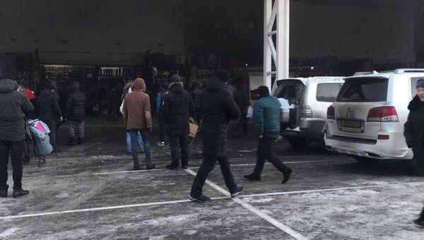 Ситуация на рынке Садовод на юго-востоке Москвы. 25 января 2018