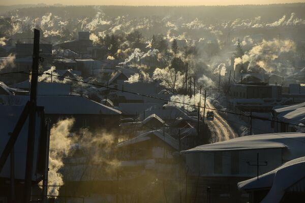Село Новолуговое в пригороде Новосибирска