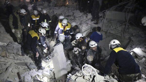 Активисты из организации Белые каски в Идлибе, Сирия
