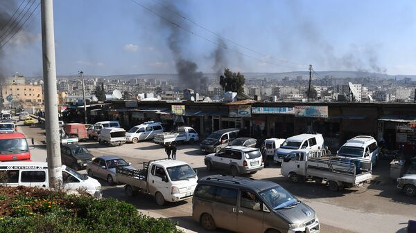 В Африне во время турецкой военной операции против курдского анклава. 28 января 2018