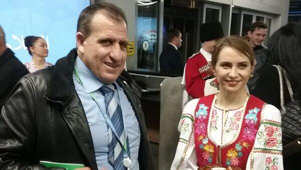 Ансамбль Любо перед встречей делегаций на конгрессе в Сочи. 28 января 2018