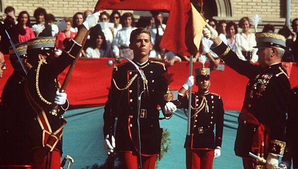 Принц Испании Фелипе VI в начале своей военной карьеры в 1985 году