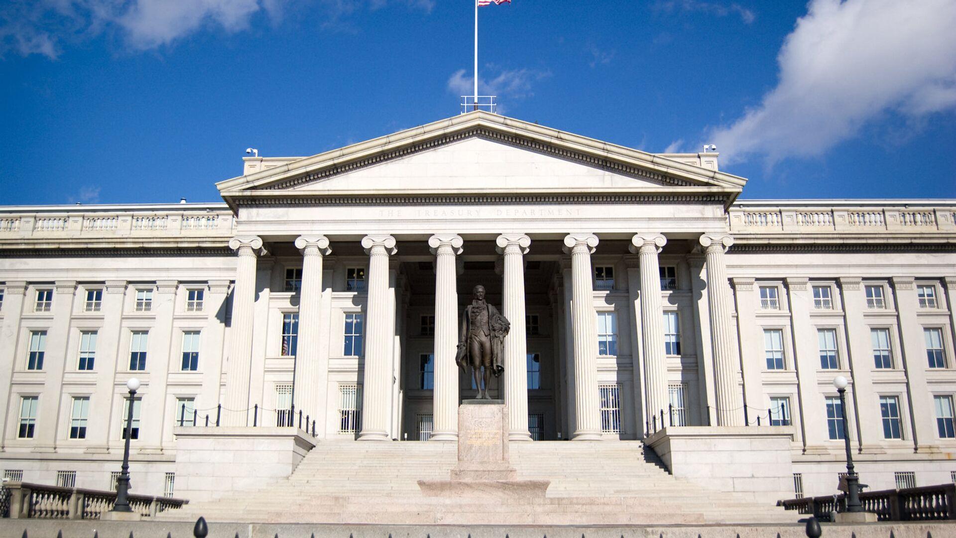 Здание Министерства финансов США в Вашингтоне - РИА Новости, 1920, 02.10.2020