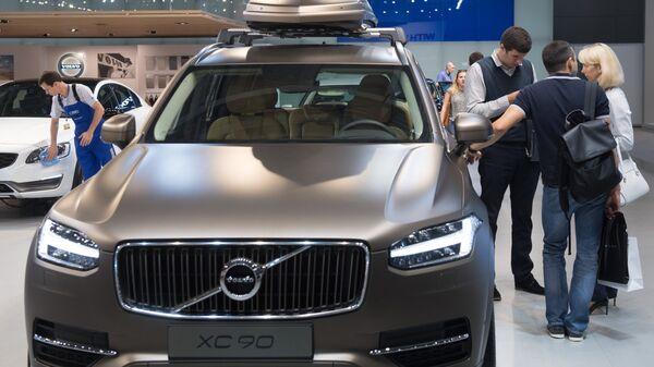 Автомобиль Volvo XC90 на Московском международном автомобильном салоне в Крокус Экспо