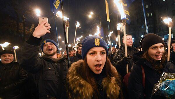 Факельное шествие в Киеве. 29 января 2018
